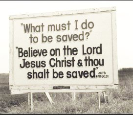 A highway Scripture Sign