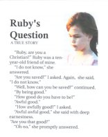 Ruby's Question