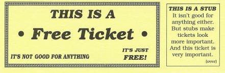 this is a free ticket